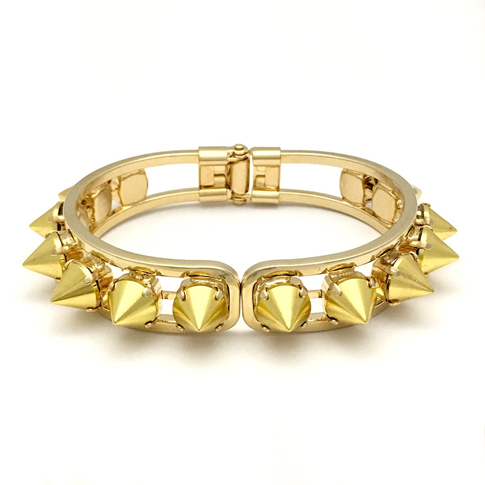 Hinged Cuff Bracelet | Yellow Gold