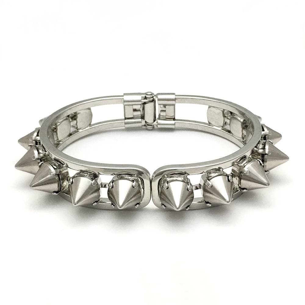 Hinged Cuff Bracelet | Silver