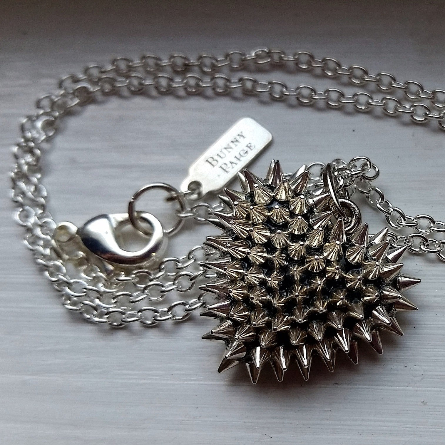 Micro Spiked Heart Necklace
