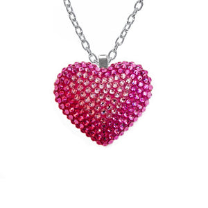 Mini Pavéd Heart Necklace in Dreamhouse