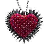 Classic Spiked & Paved Heart Necklace in Siam