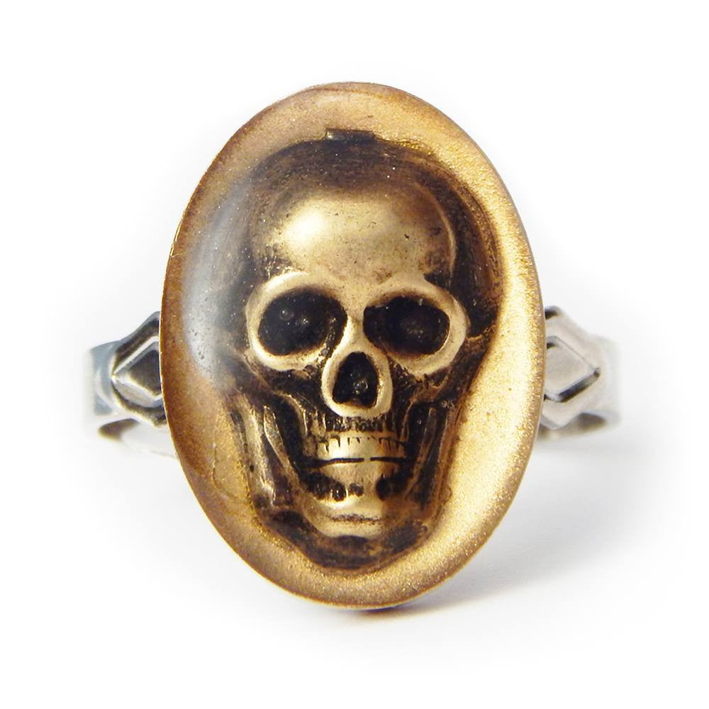 Green memento Lori skull ring