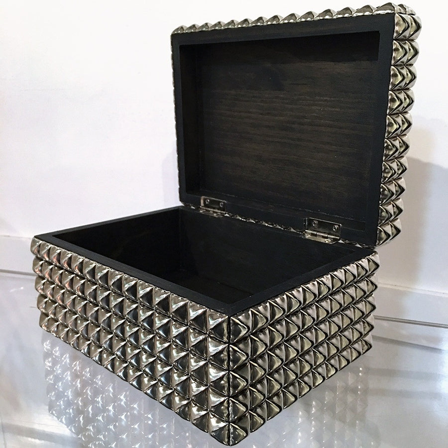 Heavy Metal Studded Box Biker Leather Studs On A Box