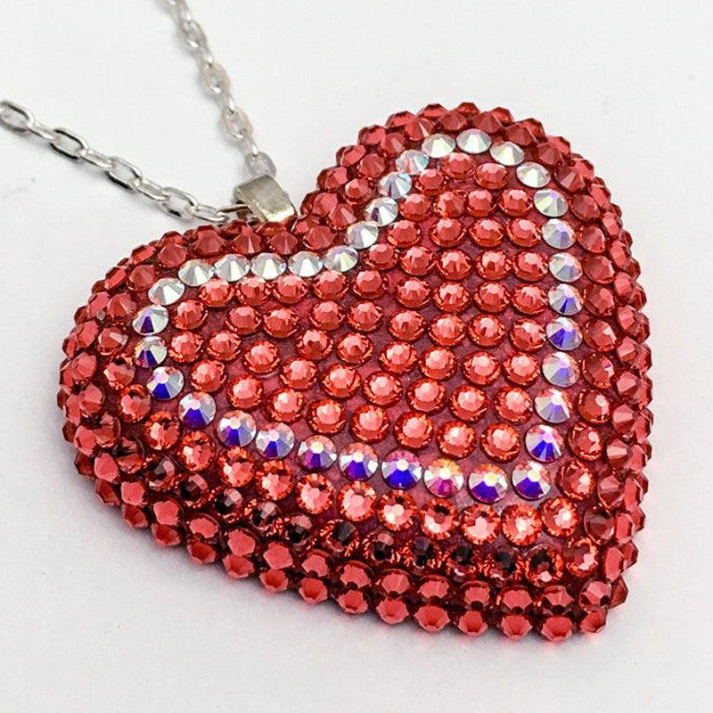 Classic Pavéd Heart Necklace | Dreamsicle | 𝗔𝗥𝗖𝗛𝗜𝗩𝗘