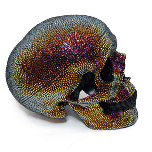Swarovski crystal paved skull!  Hand applied crystals on an anatomoically correct skull.