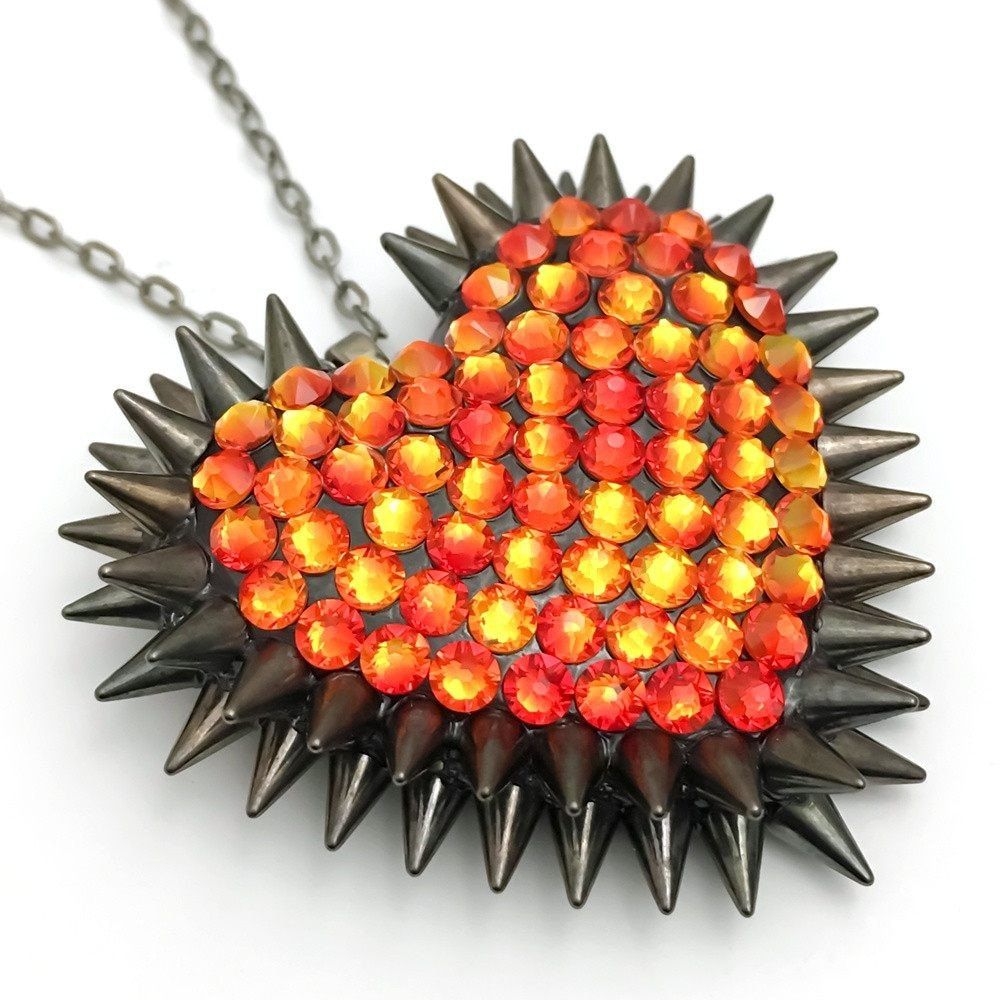 Fiery Ember Spikeheart Crystals & Black Spikes | Bunny Paige Swarovksi