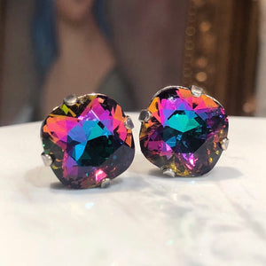 Square Crystal Studs