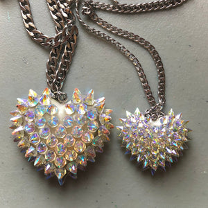 Crystal Spiked Heart | Aurora