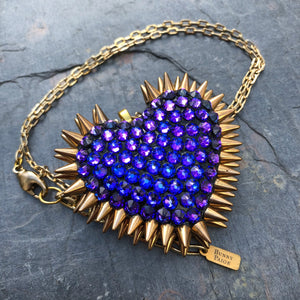 Classic Spiked Heart Necklace | Heliotrope | 𝗔𝗥𝗖𝗛𝗜𝗩𝗘