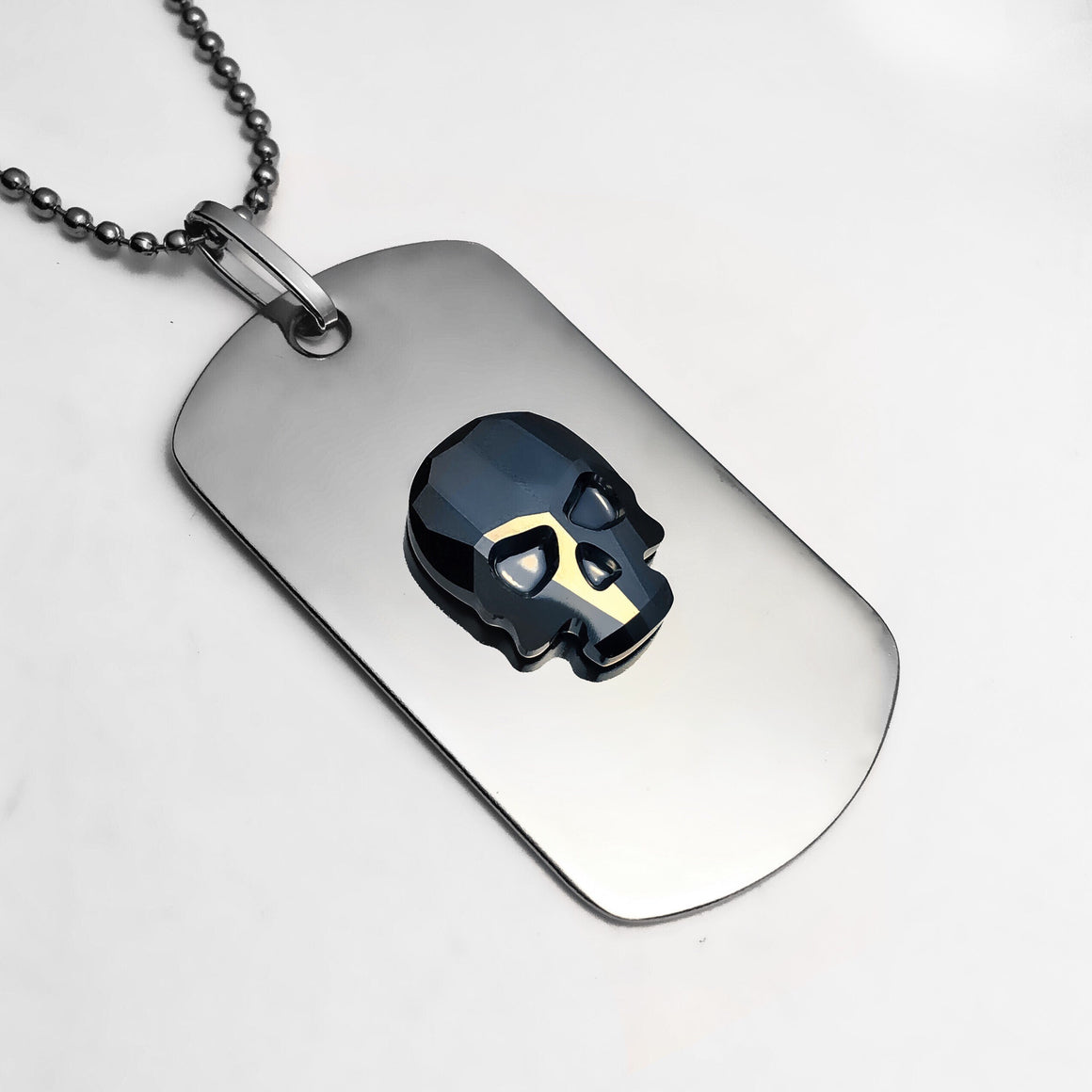 Crystal Skull Dog Tag