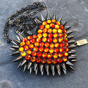 Classic Spiked Heart Necklace | Ember