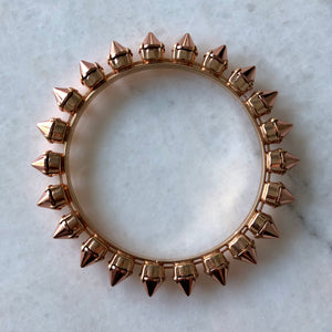 Spike Bangle Bracelet | Rose Gold