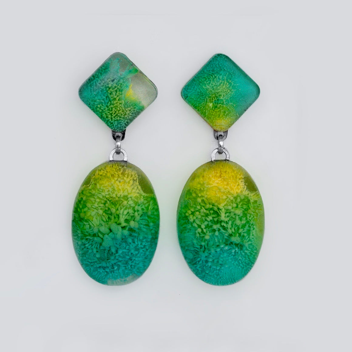Resin + Ink Drop earrings