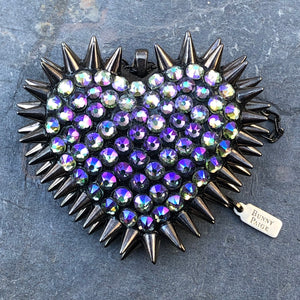 Classic Spiked Heart Necklace | Paradise & Black | 𝗔𝗥𝗖𝗛𝗜𝗩𝗘