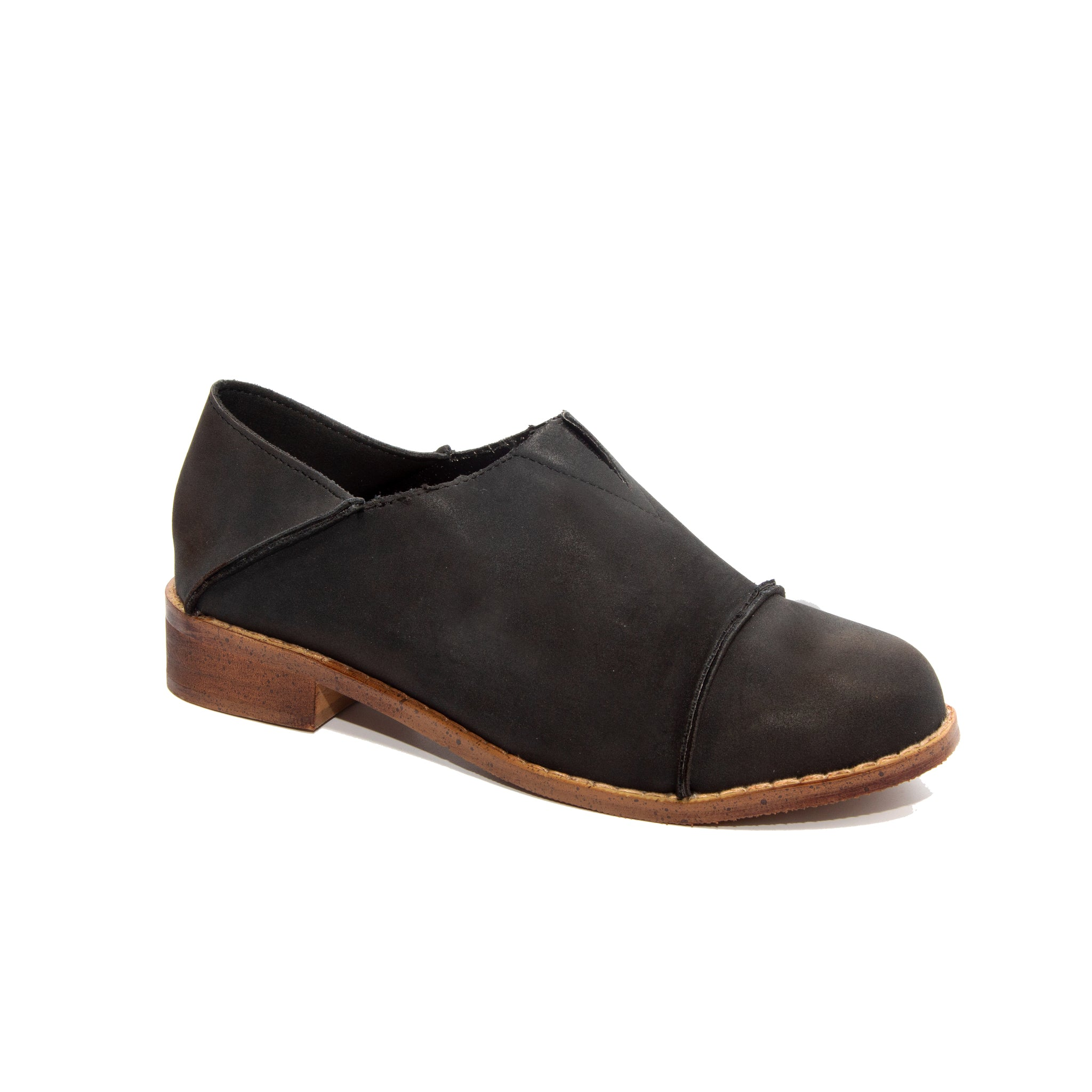 Diva by Dolce Nome | Slip-On Oxford Loafers in Black (main view)