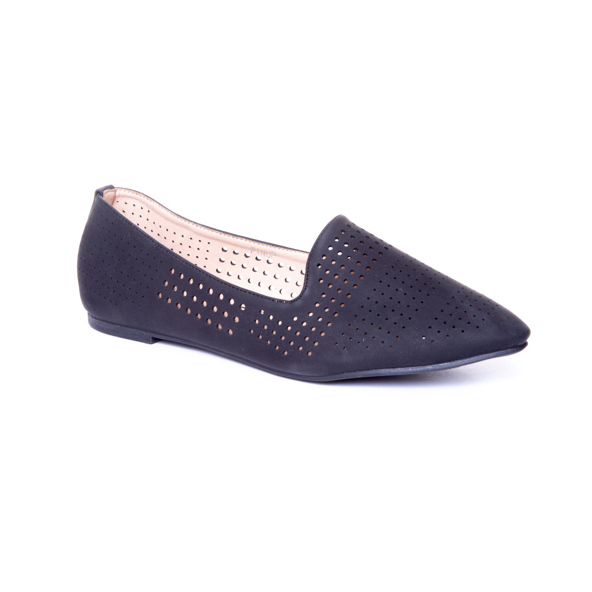 Pinup by Dolce Nome | Pointed Toe Ballet Flats in Black (main view)