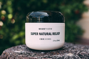 NHANPHARM Super Natural Relief .:. each 2 oz. jar contains 300 mg of Broad Spectrum Hemp Extract relief gel, and formulated with organic aloe leaf juice, camphor oil, capsicum and a blend of high-grade organic aromatic essential oils.  for topical use: liberally apply and massage onto areas of bodily aches, muscle soreness, joint pain, stomach cramps, headaches and anywhere else that needs immediate relief.   —   *derived from the whole plant but without the psychoactive phytocannabinoid ~ t h c.