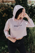 Load image into Gallery viewer, NHANPHARM - Womxn's Lightweight Crop Hoodie - Blush