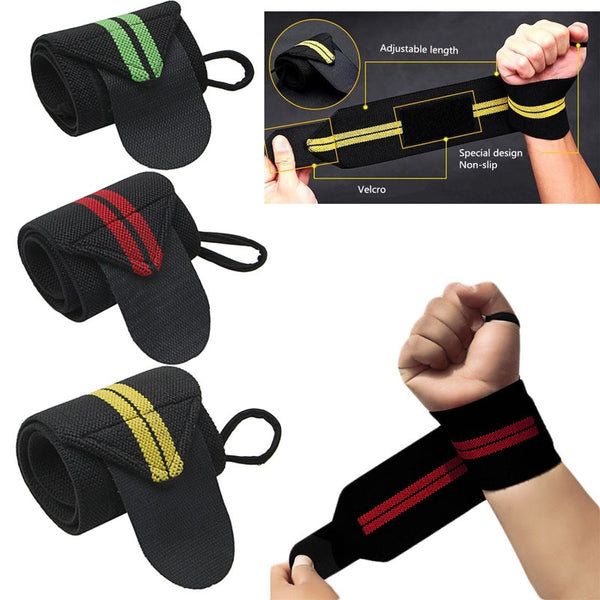 Weight Lifting Strap Fitness Gym Sport Wrist Wrap Bandage Hand Support Wristband