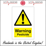 WS156 Warning Pesticide Sign with Triangle Exclamation Mark