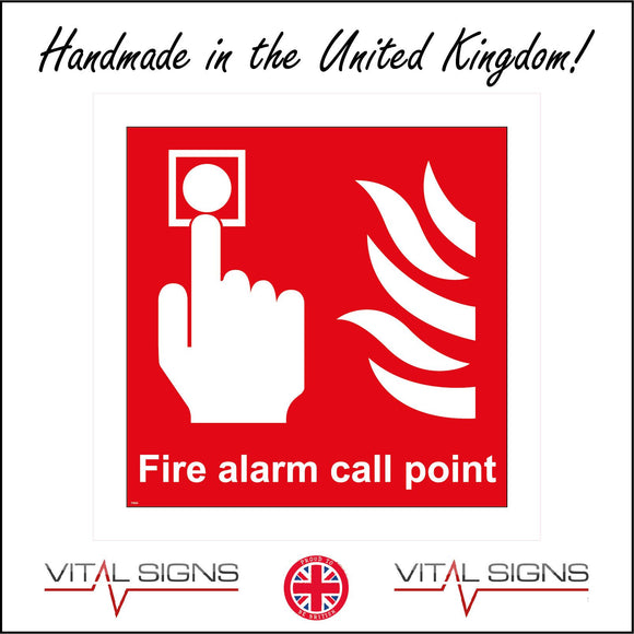 FI004 Fire Alarm Call Point Sign with Hand Button Fire