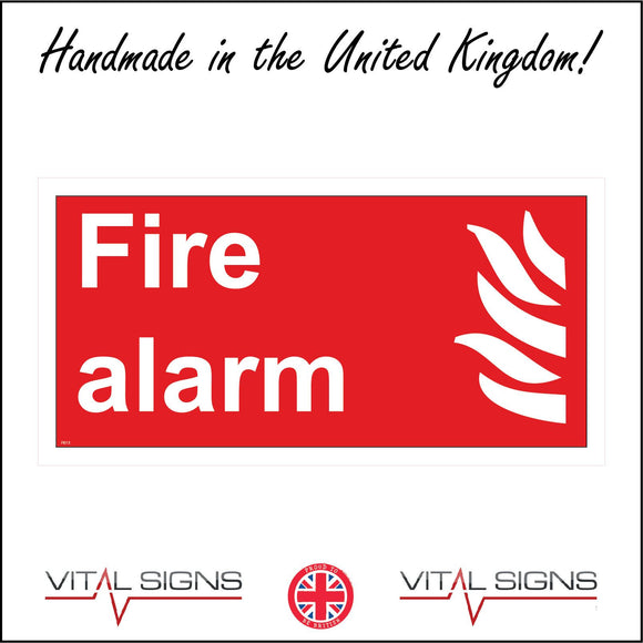FI013 Fire Alarm Sign with Fire