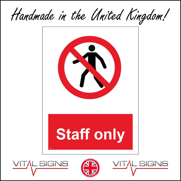 PR161 Staff Only Sign with Person Circle