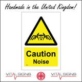 WS173 Caution Noise Sign with Triangle Head Fingers In Ears