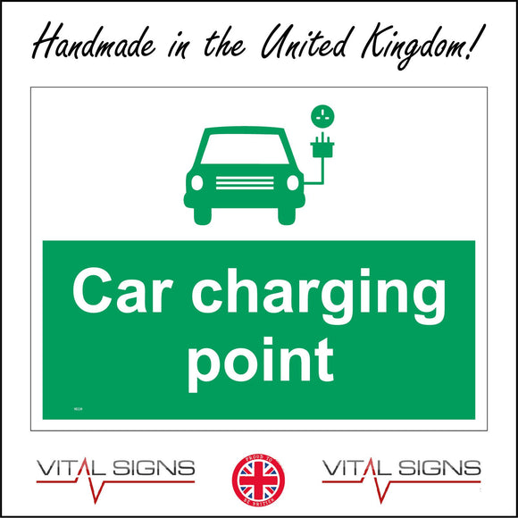 VE229 Car Charging Point Sign with Car Plug & Socket