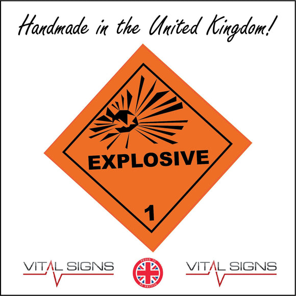HA001 Explosive Sign with Explosion