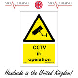 CT001 Cctv In Operation Sign with Camera Triangle