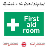 FS224 First Aid Room Sign with First Aid Cross