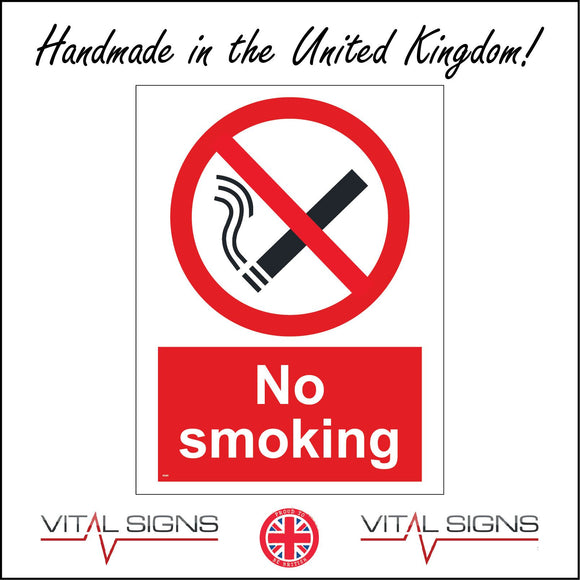 NS001 No Smoking Sign with Cigarette