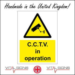 CT007 C.C.T.V In Operation Sign with Camera Triangle