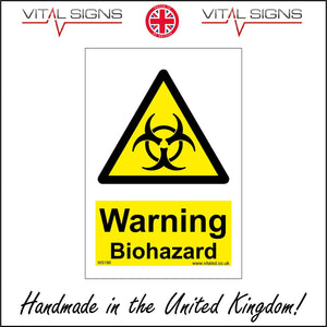 WS186 Warning Biohazard Sign with Triangle Biohazard
