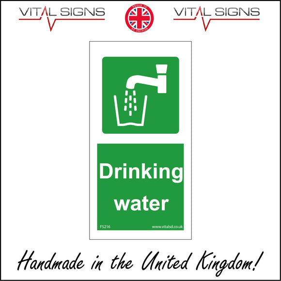 FS216 Drinking Water Sign with Tap Glass Water
