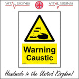 WS033 Warning Caustic Sign with Triangle Hands Acid