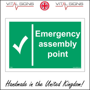 FS002 Emergency Assembly Point Sign with Tick