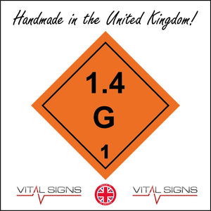 HA014 1.4G Hazard Sign Sign