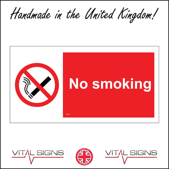 NS057 No Smoking Sign with Circle Cigarette