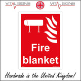 FI114 Fire Blanket Sign with Fire Tube