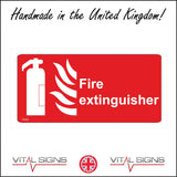 FI032 Fire Extinguisher Sign with Fire Extinguisher Fire