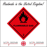 HA102 Flammable Gas Sign with Flames