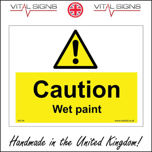 WS140 Caution Wet Paint Sign with Triangle Exclamation Mark