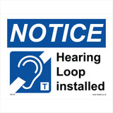 GE102 Hearing Loop Installed Sign with Ear
