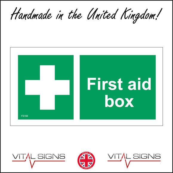 FS156 First Aid Box Sign with First Aid Cross