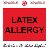 WS635 Latex Allergy Sign