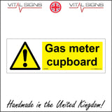 WS988 Gas Meter Cupboard Sign with Triangle Exclamation Mark