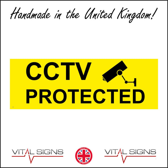 CT022 Cctv Protected Sign with Camera