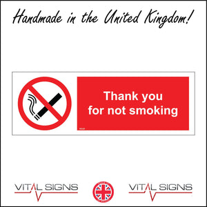 NS028 Thank You For Not Smoking Sign with Cigarette